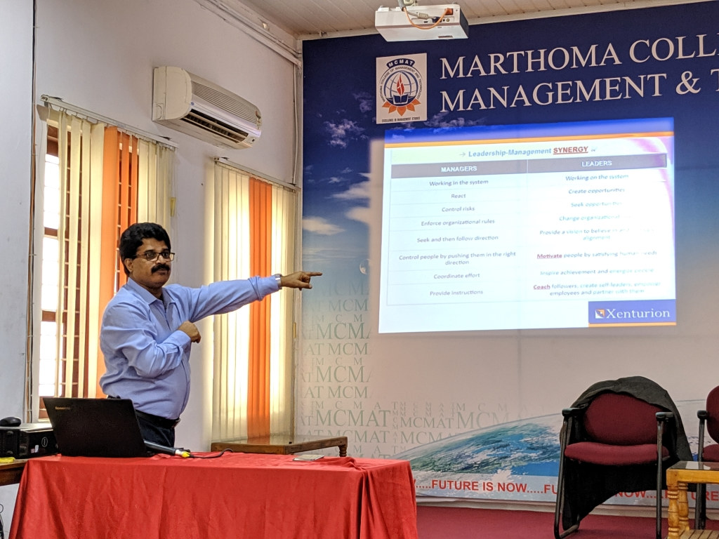 As part of the orientation programme for 2019 MBA batch, a